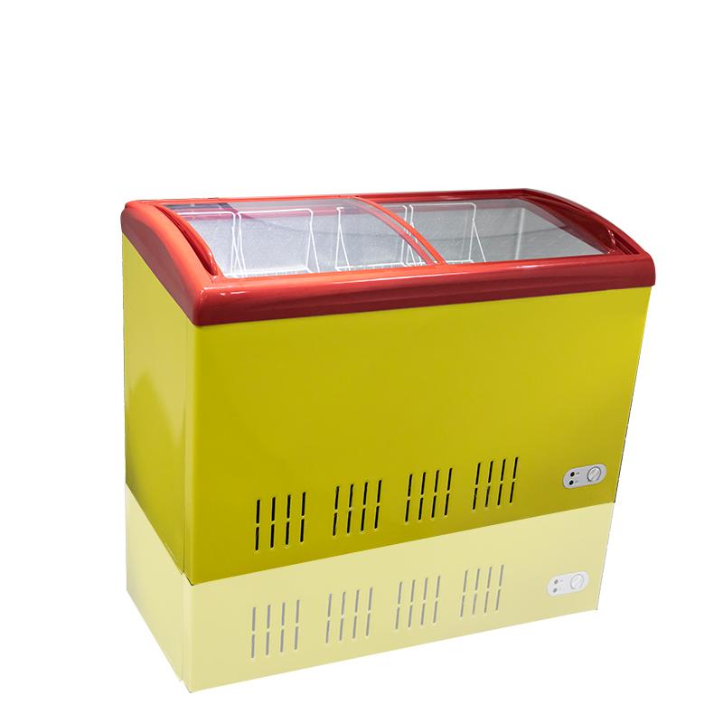 BERING BD/BC-339QY 339L curve glass door Freezer