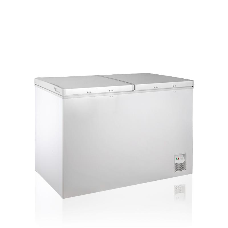 KCD-315Q 315L Top Open Double Doors Big Capacity Chest Freezers Double Chamber